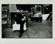 Jon Gloer Mans Post at World Congress Center's Loading Docks, December 5, 1982