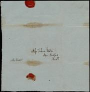 Envelope to] Miss Debora[h] Weston [manuscript