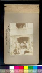 Group of Spaniards and Visayans at the house of Sr. Montenegro : Bais, Eastern Negros -- 1890