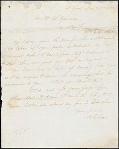 Letter from Arthur Tappan, N[ew] York, [New York], to William Lloyd Garrison, 1832 Jan[uar]y 5