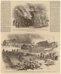 Scenes in Memphis, Tennessee, during the riot--burning down a freedmen's school-house ; Shooting down negroes on the morning of May 2, 1866