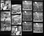 Set of negatives by Clinton Wright including Reverend Kline, Reverend Walker's choir, Bob Johnson's girls' party, Jo Mackey Headstart Graduation, 1967
