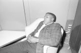 Man asleep in a chair at the Laicos Club in Montgomery, Alabama, during a performance by Bobby Moore and the Rhythm Aces.