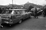 Anderson Emergency Unit ambulance parked in the George Washington Carver Homes neighborhood in Selma, Alabama, possibly on Bloody Sunday (March 7).