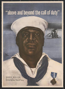 Above and beyond the call of duty--Dorie Miller received the Navy Cross at Pearl Harbor, May 27, 1942