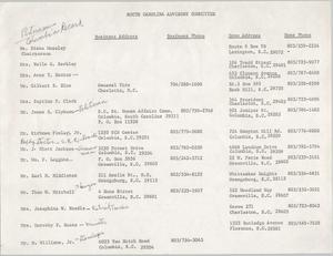 South Carolina Advisory Committee Directory