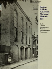 Boston African American National Historic Site: Draft General Management Plan