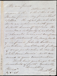 Letter from Sarah Pugh, Philad[elphi]a, [Penn.], to Maria Weston Chapman, 4/5 - [18]46