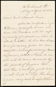 Letter from Catherine Paton, 16 Richmond St., Glasgow, [Scotland], to Anne Warren Weston, April 15, 1850