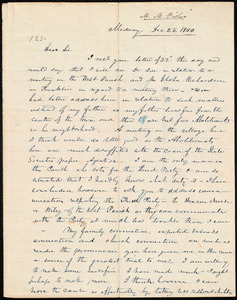 Letter from Milton Metcalf Fisher, Medway, to Amos Augustus Phelps, Dec 25. 1840
