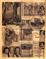 Photomontage of actresses, a dog, and three ads, one of which features a local child. Nashville Banner, 1931 October 4.