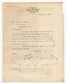 Albert D. Alcorn letter to Warren G. Harding, December 17, 1919