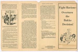 Fight Racism - Overturn the Bakke Decision!