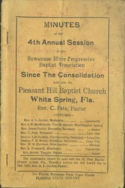 Minutes for the 42nd Annual Session of the Suwannee River Progressive Baptist Association.