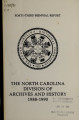 Biennial report of the North Carolina Division of Archives and History [1988-1990]