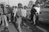 Marchers on U.S. Highway 80 in either Dallas or Lowndes County during the Selma to Montgomery March.