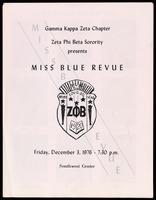 Leaflet. Miss Blue Revue