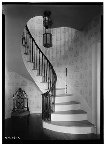 Ransom House (Stairway), South Street, Castleton, Rutland County, VT