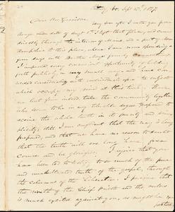 Letter from Edward Palmer, Putney, V[ermon]t, to William Lloyd Garrison, 1837 Sept]ember] 13th