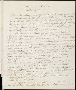 Annual Report from Anne Warren Weston to the Boston Female Anti-slavery Society, Oct. 6, 1854