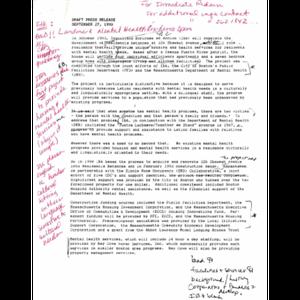 Draft press release: September 27, 1993