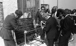 Crowd Observing Plaque, Los Angeles, 1986