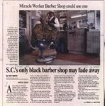 S.C.'s only black barber shop may fade away