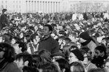 View of crowd at Vietnam Moratorium demonstration