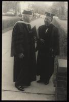 Carl Van Vechten with Dr. Charles S. Johnson of Fisk University, Nashville, Tennessee.