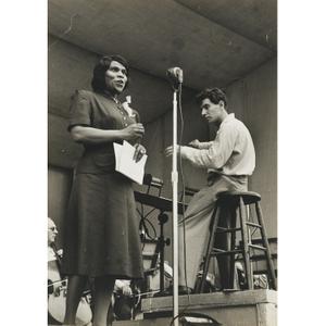 Marian Anderson and Leonard Bernstein