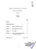 Equal opportunity report USDA programs