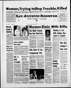 San Antonio Register (San Antonio, Tex.), Vol. 42, No. 22, Ed. 1 Friday, November 17, 1972