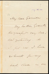 Letter from Wendell Phillips, to William Lloyd Garrison, [May 26, 1863]