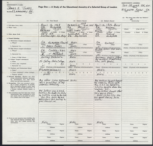 Thumbnail for Student family histories: Jones, James