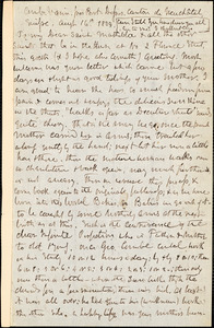 Letter from Theodore Parker, Combes Varin, Switzerland, to Matilda Goddard, 1859 Aug[ust] 16