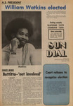 """Daily Sundial--A.S. Election Results: """"William Watkins elected""""--May 4, 1973"""