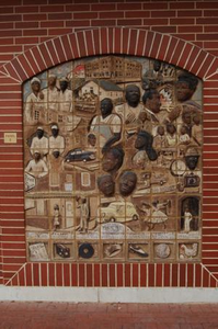 Two-Dimensional Tiled African Mural Panel E