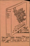 Meet the author Al Richmond, flier, 1973-03-07