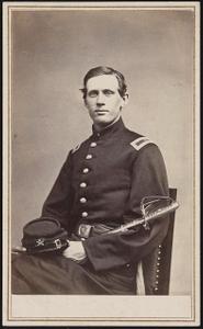 [Lieutenant Martin Sydney Smith of Co. K, 14th Rhode Island Heavy Artillery Regiment (Colored) in uniform with sword]