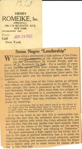 Some Negro 'leadership'