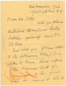 Letter from Jessie Fauset to Augustus Granville Dill