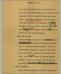 News Script: Federal jazz