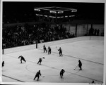 The Barons and Canucks skate at the Los Angeles Sports Arena