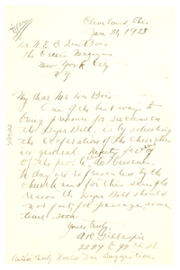 Letter from A. R. Gillespie to W. E. B. Du Bois