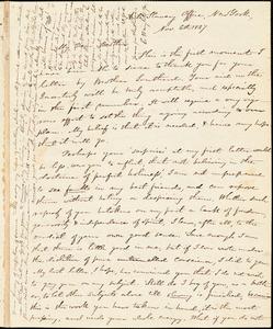 Letter from Elizur Wright, Anti-Slavery Office, New York, [New York], to William Lloyd Garrison, 1837 Nov[ember] 6th