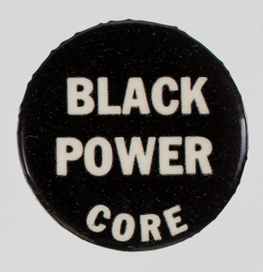 Pin-back button for CORE and Black Power