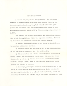 Student family histories: Marcus, McKinley