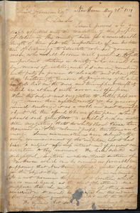 Letter from Simeon Smith Jocelyn, New Haven, [Connecticut], to William Lloyd Garrison, 1831 May 28th
