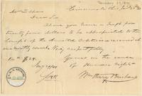 Letter from William Henry Brisbane to Lewis Tappan