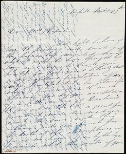 Letter from Annie Allen, High St[reet], [Dublin, Ireland], to Maria Weston Chapman, Nov'r 17th [- 18th, 18]46